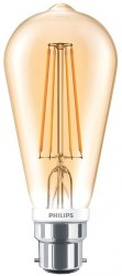Philips LED Classic ST64 Filament 7W, 2000K GOLD, B22, Dimmable