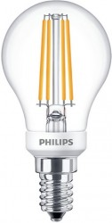Philips LED Classic Filament Luster 5W=40W, 2700K, E14, Dimmable
