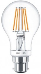 Philips LED Classic GLS Filament 4.5W=40W, 2700K, B22, Dimmable