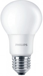 Philips CorePro LED Bulb, GLS, 8W-60W, 2700K, E27 Screw, No Dim