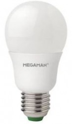 Megaman LED GLS, 8.5W, 2800K, E27, Opal, 600lm, Dimmable