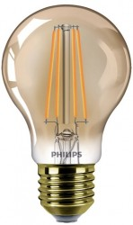 Philips LED Classic GLS Filament NEW 8W, 2200K GOLD, E27, Dimmable