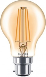 Philips LED Classic GLS Filament NEW 7.5W, 2000K GOLD, B22, Dimmable