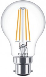 Philips LED Classic GLS Filament 8W=60W, 2700K, B22, Dimmable