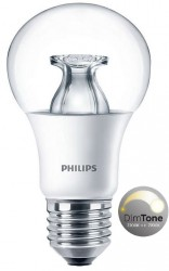 Philips Master LED Bulb, GLS 8.5W=60W, Screw, DIMTONE