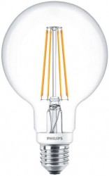 Philips LED Classic Globe Filament 7W=60W, 2700K, E27, Dimmable
