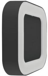 Osram LEDVance Surface Square Wall Light, 13W, 3000K, DARK GREY, IP54