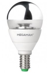 Megaman LED GLS Crown Silver, 5W, E14, Dimmable