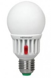 Megaman LED GLS, 8W, SENSOR LIGHT, E27, 2800K, Opal, No Dim