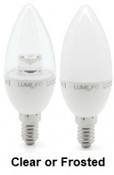 LumiLife LED Candle, 5W~35W, E14, Not Dimmable