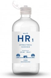 Willys HR1 Natural Antibacterial Hand Sanitiser 80%, 300ml