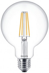 Philips LED Classic Globe Filament 8W=60W, 2700K, E27, Dimmable
