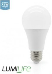 LumiLife LED GLS, 12W=70W, 2700K, E27, Dimming Option