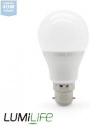 LumiLife LED GLS, 6W=40W, 2700K, B22, Dimming Option