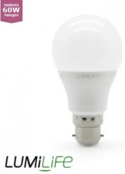 LumiLife LED GLS, 9W=60W, 2700K, B22, Dimming Option
