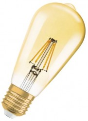 Osram 1906 Vintage GOLD LED ST64 Filament 7W, 2500K, E27, Dimmable