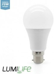 LumiLife LED GLS, 12W=70W, 2700K, B22, Dimming Option