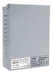 LED Strip Power Supply, Metal, IP44 Rainproof, *24V*, 200W