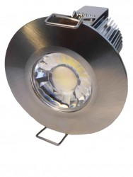 All in One LED Downlight, 10W, IP65, Dimmable, 5yrs, 65mm cut-out