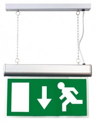 LumiLife 4W LED Emergency Exit Sign - Maintained - Suspended