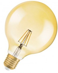 Osram 1906 Vintage GOLD LED Globe Filament 6.5W, 2400K, E27 No Dim