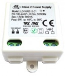 LED Driver 6W Power Supply, 12VDC