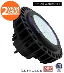 LumiLife LED 100W Premium UFO High Bay, 13000LM, 4000K, 5yr + 2yr