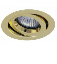 Ansell iCage Mini, Fire Rated Downlight Fitting, GIMBLE, BRASS