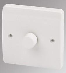 MK Logic Plus K1523WHI 1G SINGLE Dimmer, LED/Halogen/Incan, White