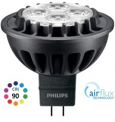 Philips Master LED MR16, 7W CRI90, 2700K, 15D, Dimmable