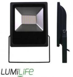 LumiLife SMD LED Flood Light, 50W, 6000K, 4920lm, IP65 (PIR option)
