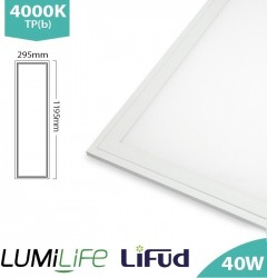 LUMiLife LED Panel, 1200x300, 40W, 4000K, Lifud, TPb, IP40, 5yrs