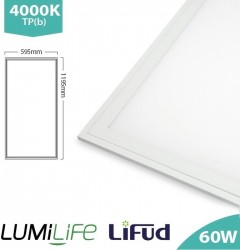 LUMiLife LED Panel, 1200x600, 60W, 4000K, Lifud, TPb, IP40, 5yrs