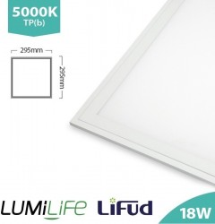 LUMiLife LED Panel, 300x300, 18W, 5000K, Lifud, TPb, IP40, 5yrs