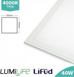 LUMiLife LED Panel, 600x600, 40W, 4000K, Lifud, TPb, IP40, 5yrs