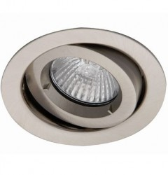 Ansell iCage Mini, Fire Rated Downlight, GIMBLE, SATIN CHROME