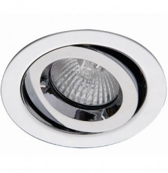 Ansell iCage Mini, Fire Rated Downlight Fitting, GIMBLE, CHROME