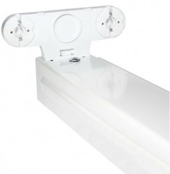 Powermaster LED-Ready IP20 T8 Tube Fitting, 5ft Twin