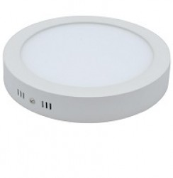 mege led surface mount round panel 12w 170mm bezel ip44 5yrs. Black Bedroom Furniture Sets. Home Design Ideas