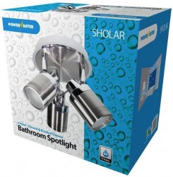 PowerMaster Indoor IP44 Bathroom 3-Way GU10 Spotlight - Chrome