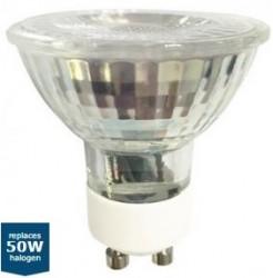 LumiLife LED GU10, 5W=50W, GLASS, 5000K, 36D, Dim Option