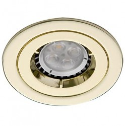 Ansell iCage Mini, Fire Rated Downlight Fitting, FIXED, BRASS