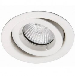Ansell iCage Mini, Fire Rated Downlight Fitting, GIMBLE, WHITE
