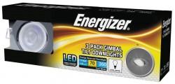 Energizer 3-PACK IP20-Rated Tilt Downlight, CHROME, 4000K, 68mm