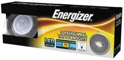 Energizer 3-PACK IP20-Rated Tilt Downlight, BR. CHR, 4000K, 68mm