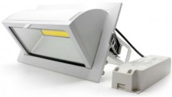 LUMiLife LED Rectangle Recessed Downlight, 35W, IP20, 220x130mm