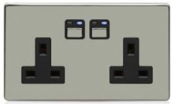 Lightwave - Remote Control 2-Gang 13A Power Socket
