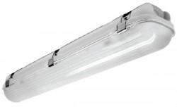 Willow LED, Anti-Corrosive, IP65, 4ft Single, 24W, 4000K, Emergency
