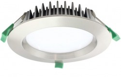 LUMiLife LED Downlight, 18W, IP54, Dimmable, Br. Nickel, 145mm Cutout