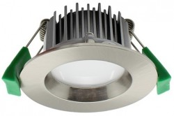 LUMiLife LED Downlight, 7W, IP54, Dimmable, Br. Nickel, 65mm Cutout